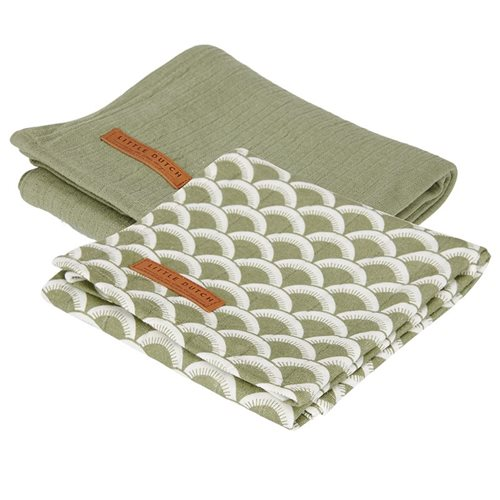Picture of Swaddles 70 x 70 Sunrise Olive / Pure Olive