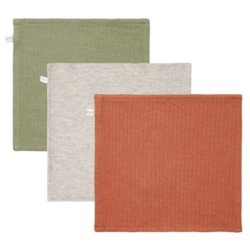 Picture of Facecloths Pure Olive /Rust