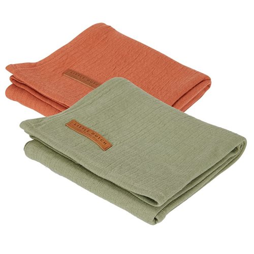 Picture of Swaddles 70 x 70 Pure Olive /rust