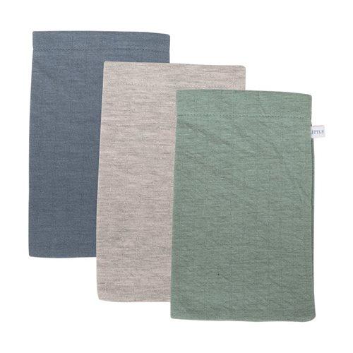 Waschhandschuhe Set Pure Mint / Blue