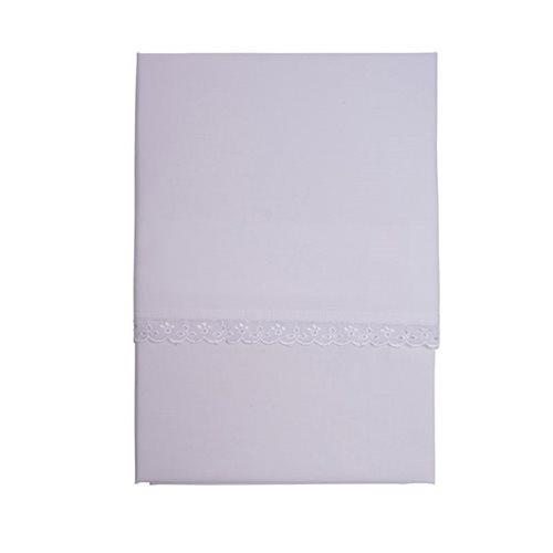 Afbeelding van Wieglaken wit kantje