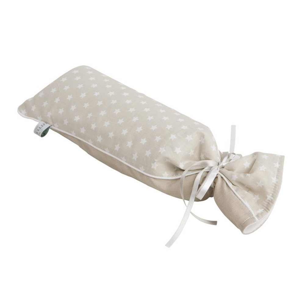 Picture of Hot-water bottle cover beige with white stars & beige