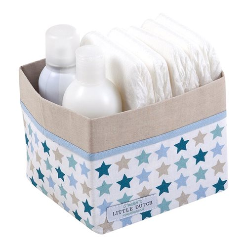Picture of Storage basket, small Mixed Stars Mint