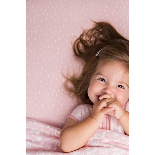 Einzel Spannbetttuch Pink Sprinkles