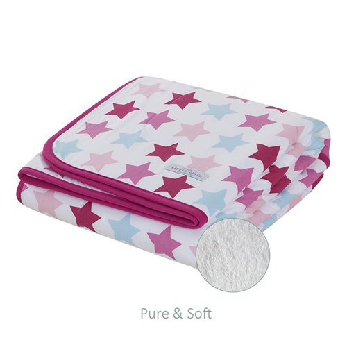 Picture of Bassinet blanket Pure & Soft - Mixed Stars Pink