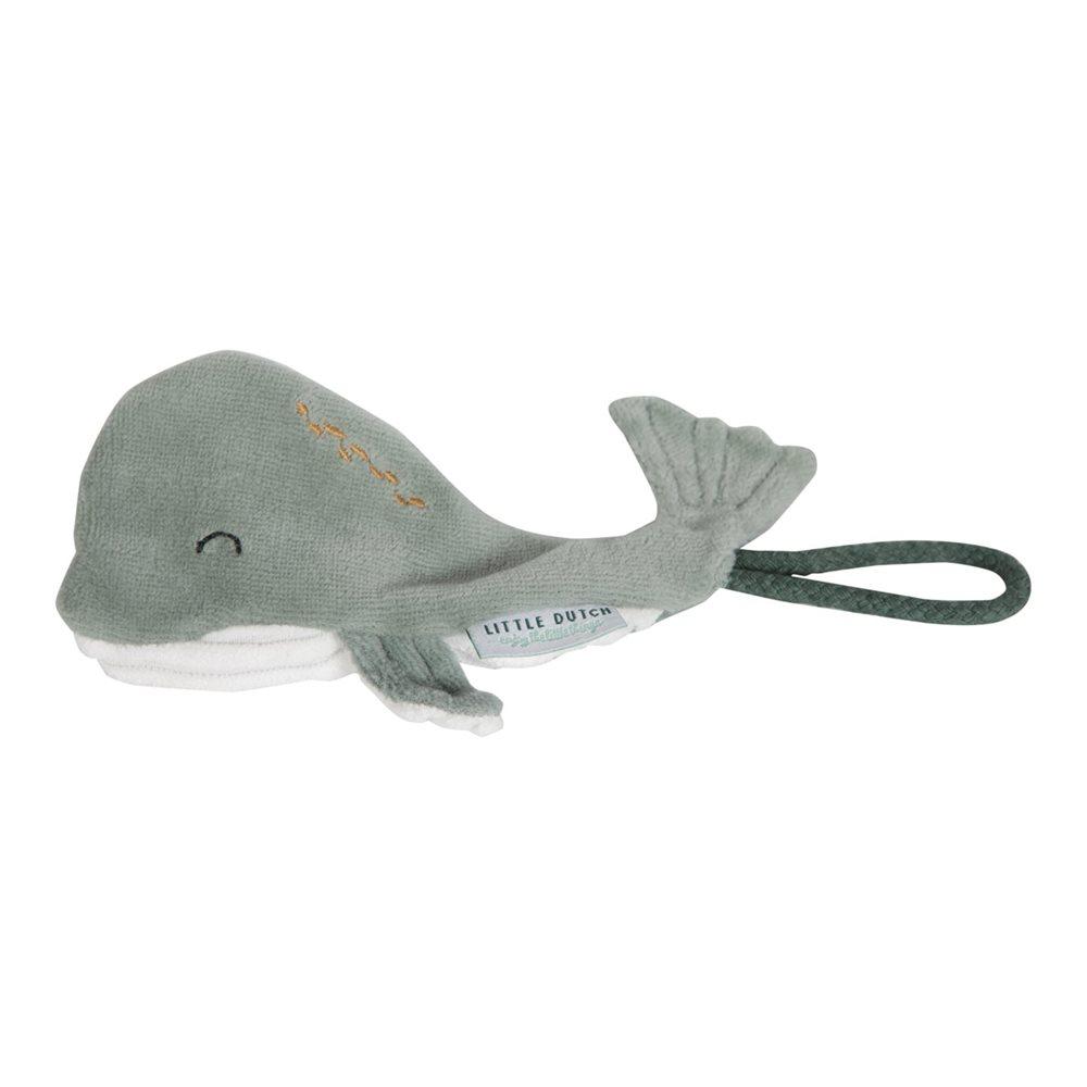 Picture of Pacifier clip Whale Ocean Mint