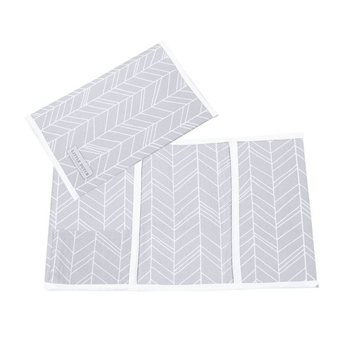 Picture of Check-up booklet cover, large Grey Leaves