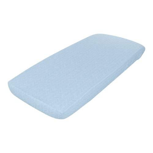 Picture of Fitted sheet 70x140/150 Blue Leaves
