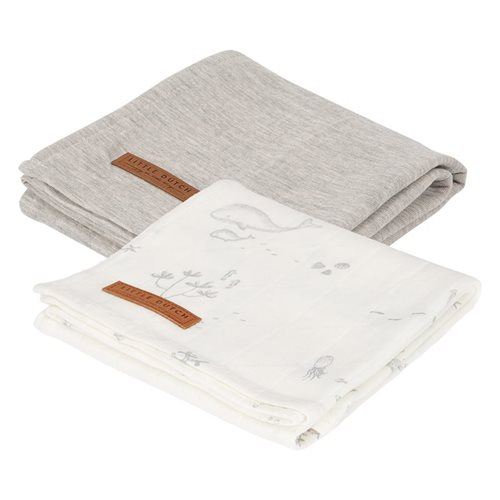 Picture of Muslin cloths 70 x 70 Ocean White/Pure Grey