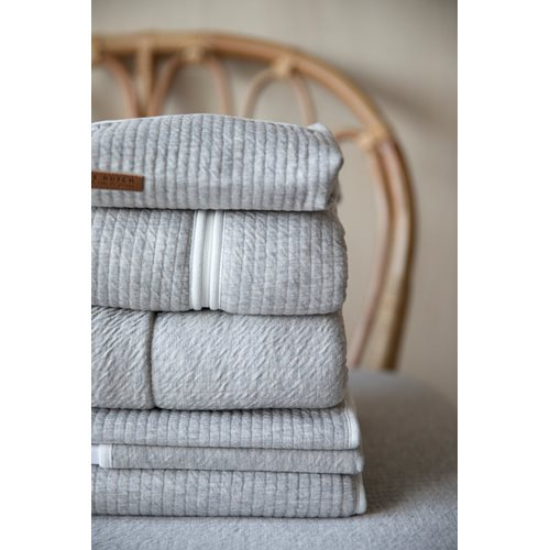 Musselintuch Swaddles 70 x 70 Ocean White / Pure Grey
