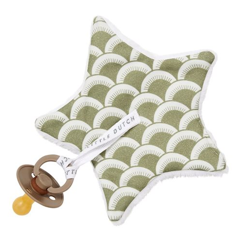 Doudou attache-sucette Sunrise Olive