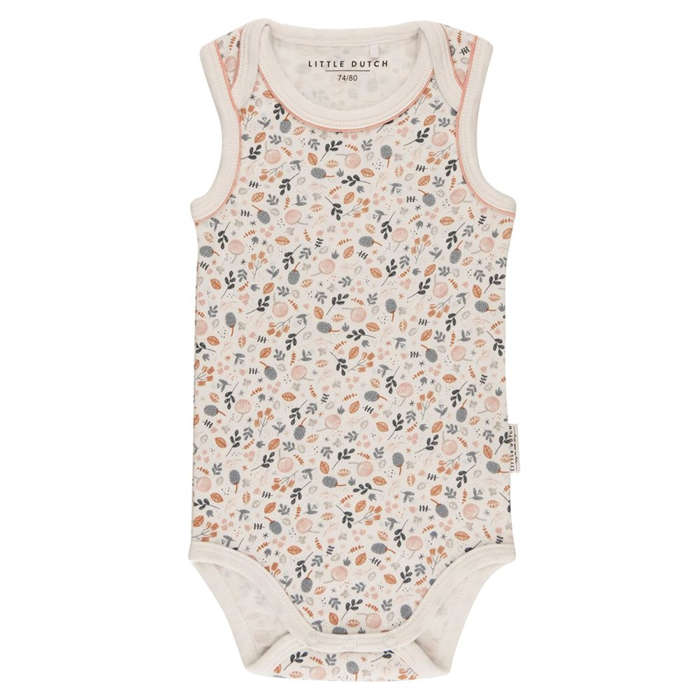 Body 50/56 sans manches - Spring Flowers