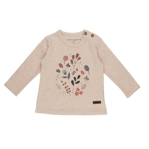 Picture of T-Shirt 74 long sleeves with print - Spring Flowers