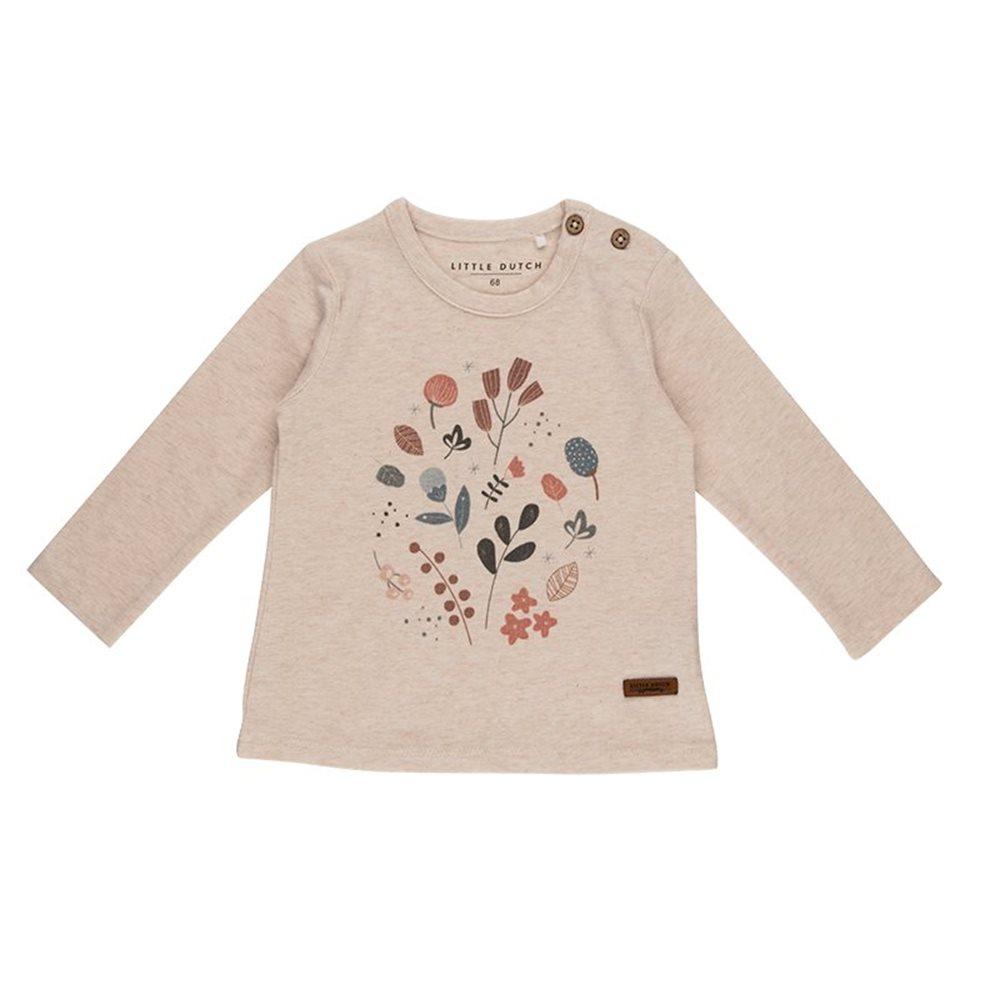 Afbeelding van T-Shirt 62 lange mouw met print - Spring Flowers