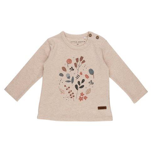 T-Shirt 56 langen Ärmeln mit Aufrduck - Spring Flowers