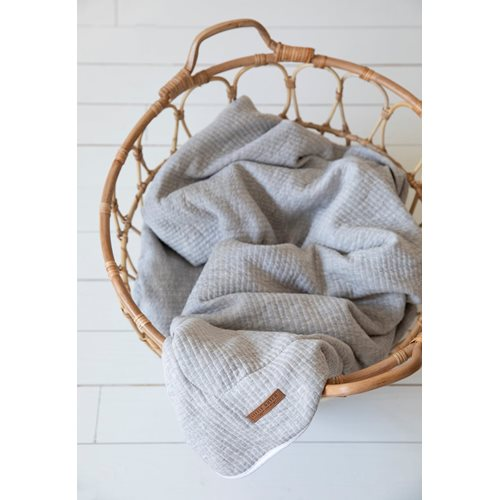 Picture of Bassinet blanket cover Pure Grey