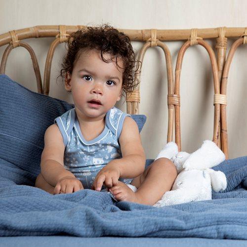 Sommerdecke Kinderbett Pure Blue