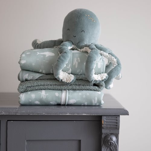 Picture of Bassinet blanket Ocean Mint