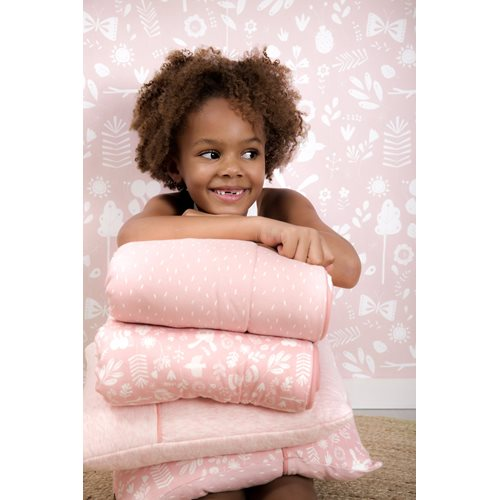 Picture of Cot blanket Adventure Pink