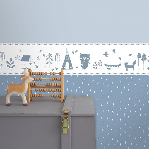 Picture of Non-Woven Wallpaper Sprinkles Blue