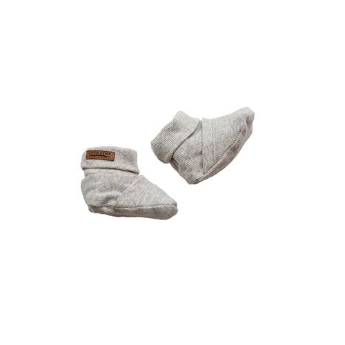 Picture of Baby booties 15/16, Grey Melange