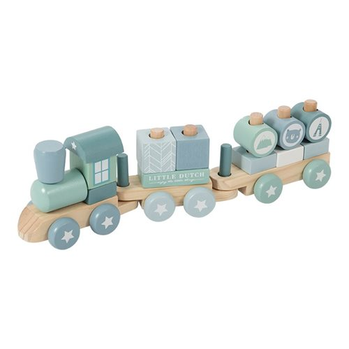 Picture of Wooden train blue