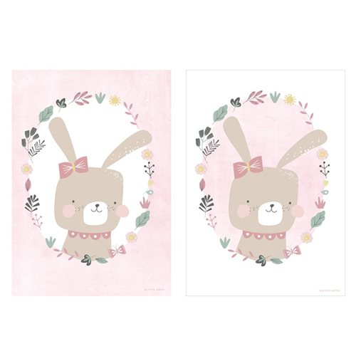 Picture of Poster Rabbit pink