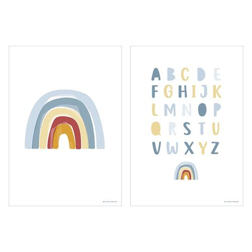 Picture of Poster Rainbow Alphabet blue