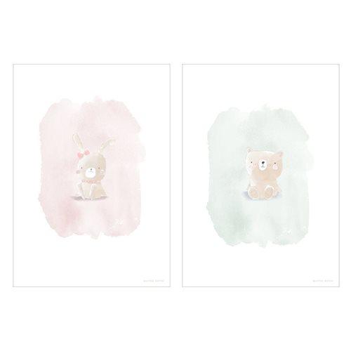 Poster Hase und Bär