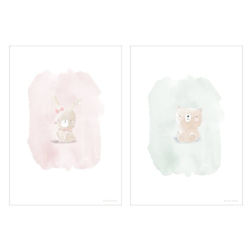 Picture of Poster Rabbit and Bear