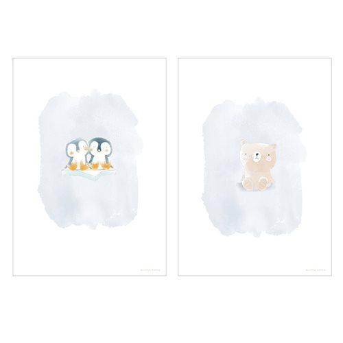 Poster Bär und Pinguine