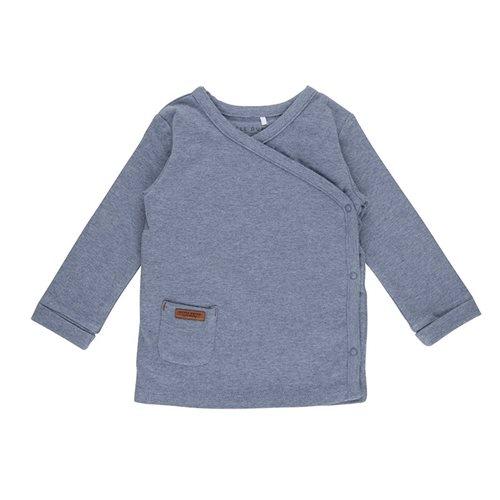 T-shirt bébé cache-coeur 56 - Blue Melange