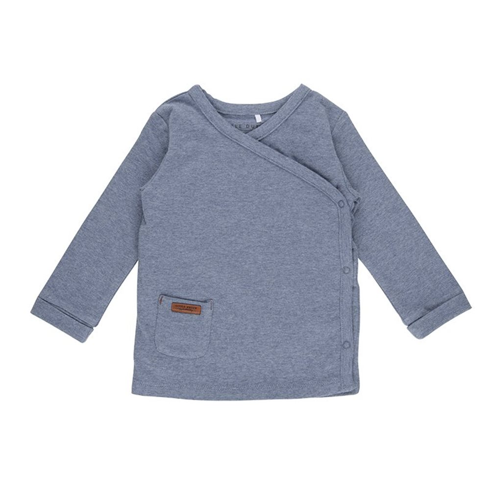 Baby-Wickelshirt 62 - Blue Melange
