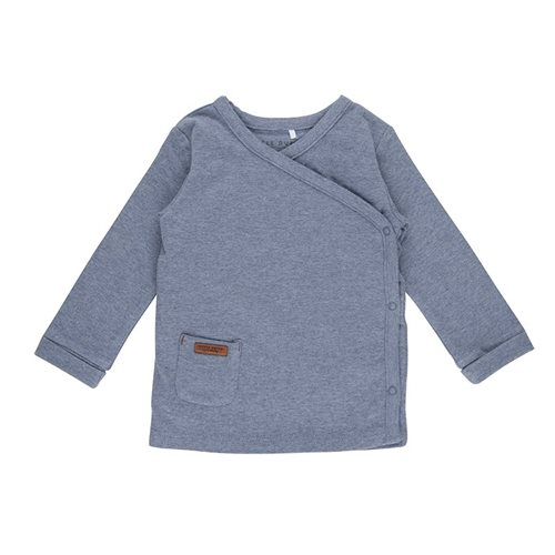Afbeelding van Overslag shirt 62 - Blue Melange