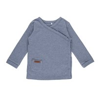 T-shirt bébé cache-coeur 68 - Blue Melange