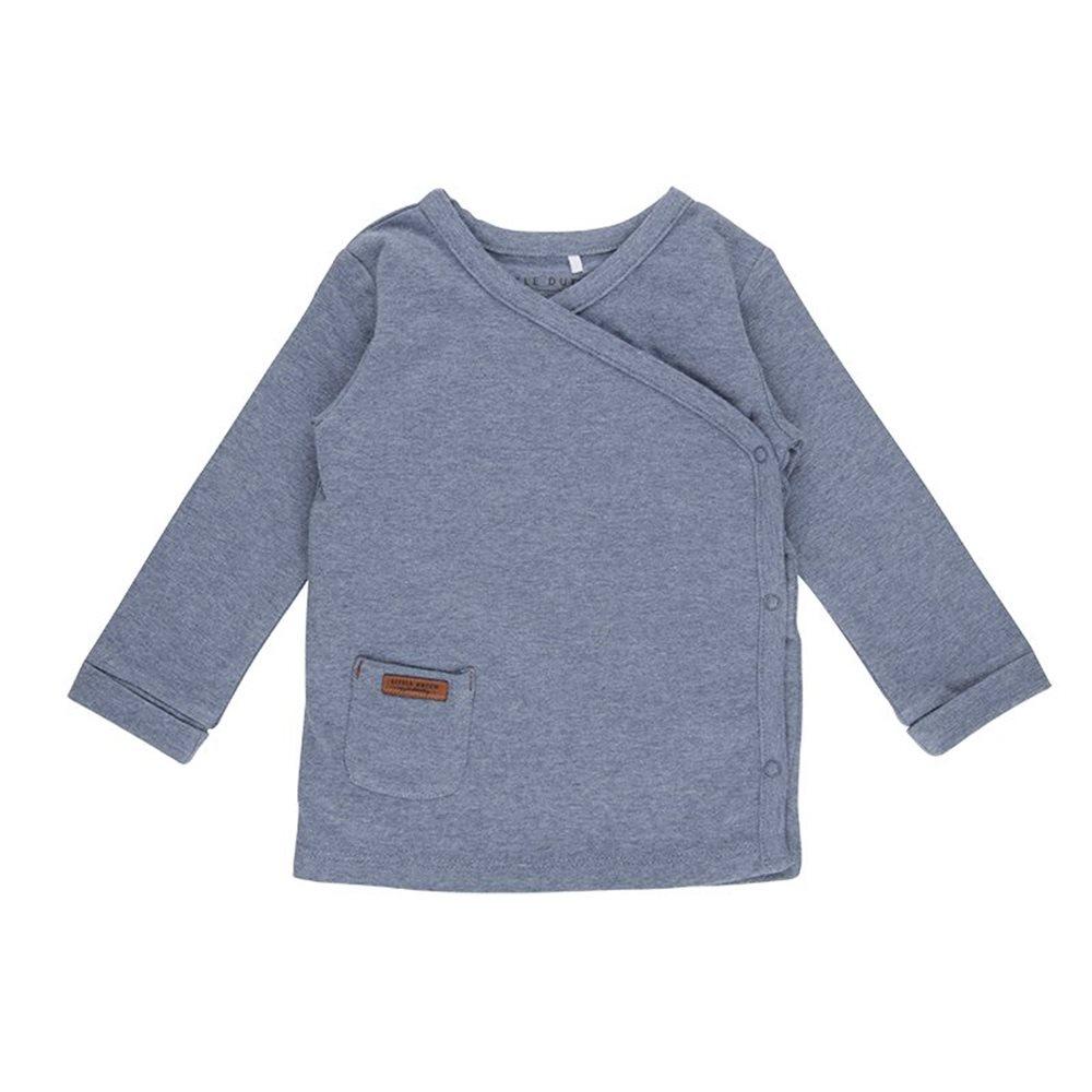 Picture of Overslag shirt blue melange - 68