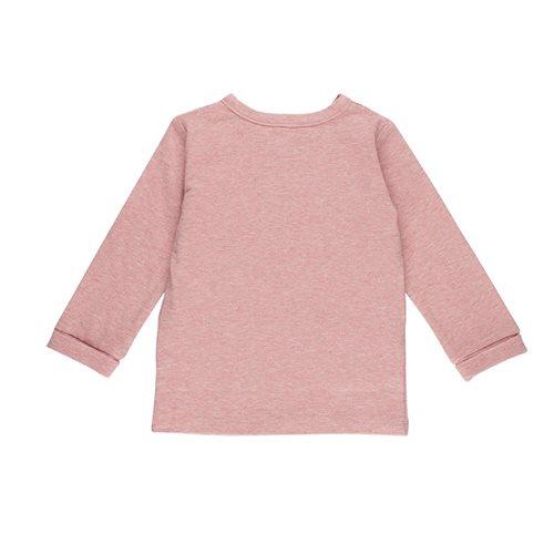 T-shirt bébé cache-coeur 56 - Pink Melange