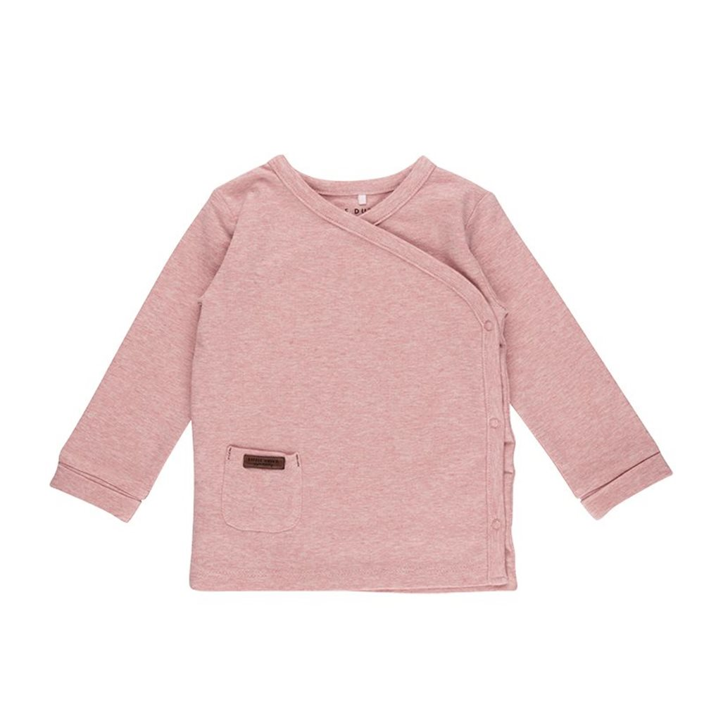 Afbeelding van Overslag shirt 68 - Pink Melange