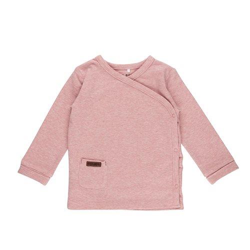 T-shirt bébé cache-coeur 68 - Pink Melange