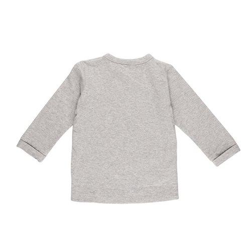 T-shirt bébé cache-coeur 56 - Grey Melange