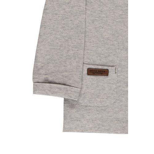 Picture of Overslag shirt grey melange - 56