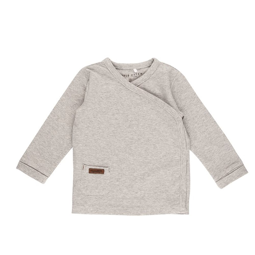 Picture of Overslag shirt grey melange - 56