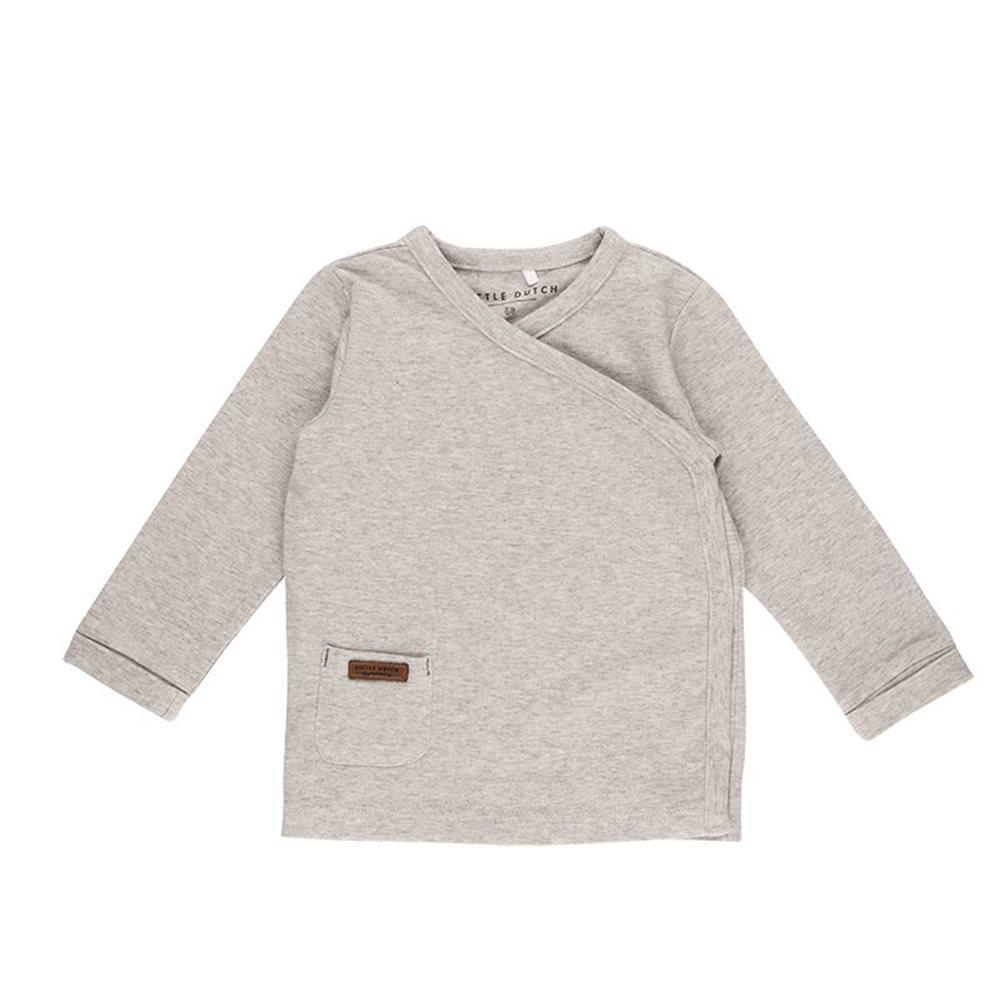 T-shirt bébé cache-coeur 62 - Grey Melange