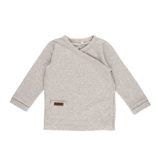 Picture of Overslag shirt grey melange - 68