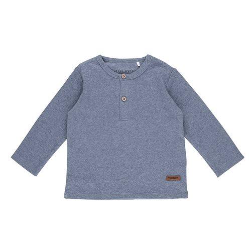 T-Shirt 56 langen Ärmeln Blue Melange
