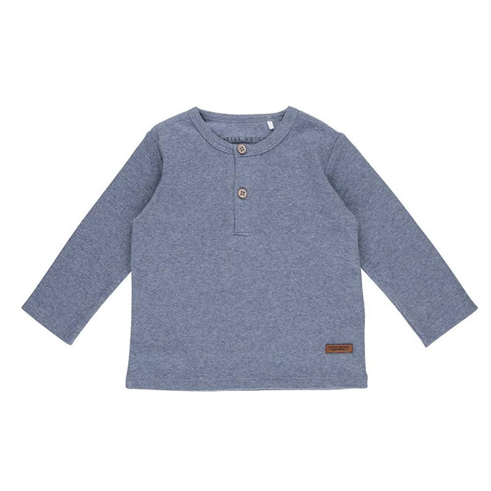 T-Shirt 68 langen Ärmeln Blue Melange