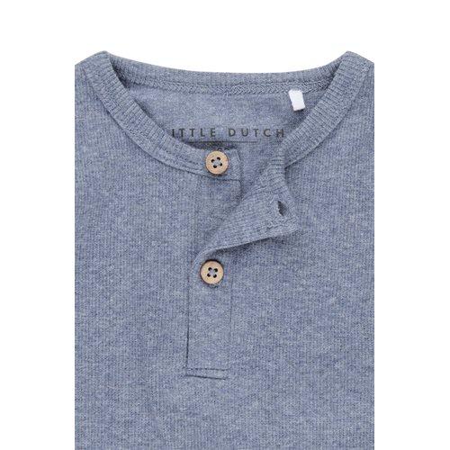 Picture of Tshirt lange mouw blue melange - 74