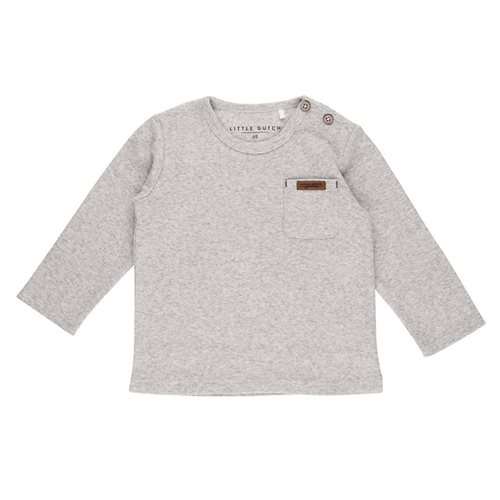 Picture of Tshirt lange mouw grey melange - 56