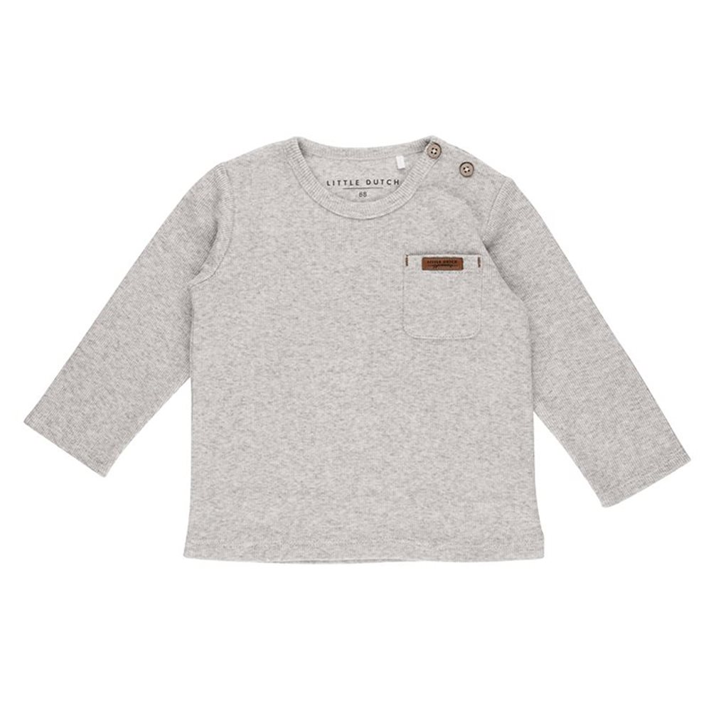 Picture of Tshirt lange mouw grey melange - 62