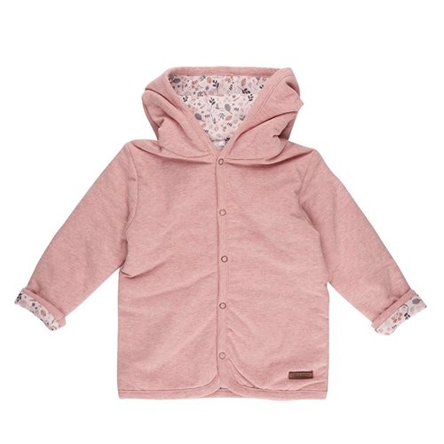 Afbeelding van Babyjasje 74, Pink Melange - Spring Flowers